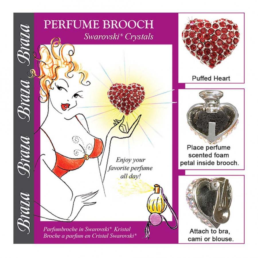 CLEAVAGE/PERFUME BROOCH - PUFFED HEART