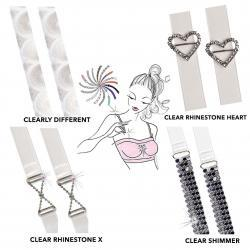 Braza Clear Sassy Bra Straps with metal link designs