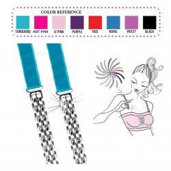 Convertible Bra Straps with metal weave link designs