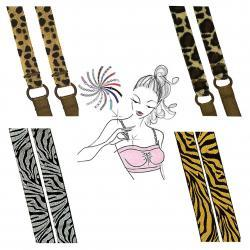 Convertible Bra Straps with animal print designs