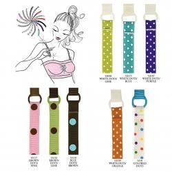 Braza colorful Sassy Bra Straps with assorted dot designs