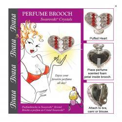 Heart shape Perfume Brooch clips to your bra