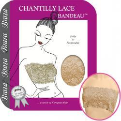 Chantilly Lace Bandeau and Tube Top Bra for comfort and elegance available in 2 colors